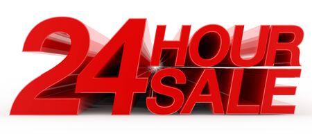 24 HOUR SALE word on white background illustration 3D rendering Reklamní fotografie - 131801067