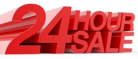 24 HOUR SALE word on white background illustration 3D rendering Reklamní fotografie - 131801093