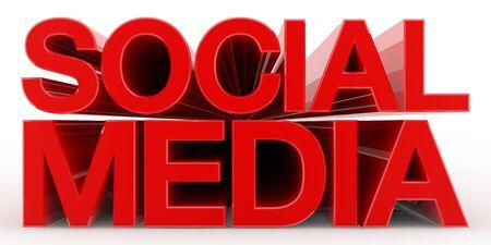 SOCIAL MEDIA word on white background illustration 3D rendering