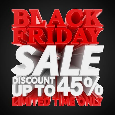 BLACK FRIDAY SALE DISCOUNT UP TO 45 % LIMITED TIME ONLY 3D rendering