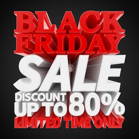 BLACK FRIDAY SALE DISCOUNT UP TO 80 % LIMITED TIME ONLY 3D rendering