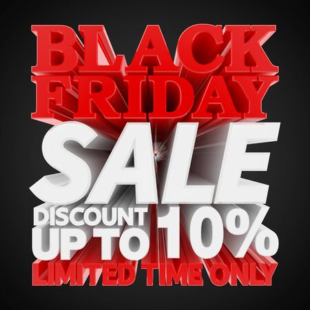 BLACK FRIDAY SALE DISCOUNT UP TO 10 % LIMITED TIME ONLY 3D rendering