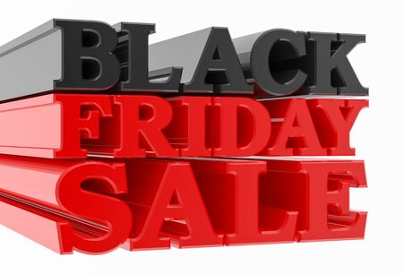 BLACK FRIDAY SALE word on white background 3D rendering