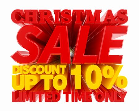 CHRISTMAS SALE DISCOUNT UP TO 10 % LIMITED TIME ONLY 3D rendering