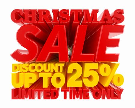 CHRISTMAS SALE DISCOUNT UP TO 25 % LIMITED TIME ONLY 3D rendering