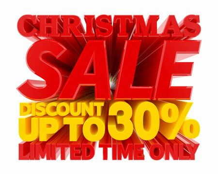 CHRISTMAS SALE DISCOUNT UP TO 30 % LIMITED TIME ONLY 3D rendering