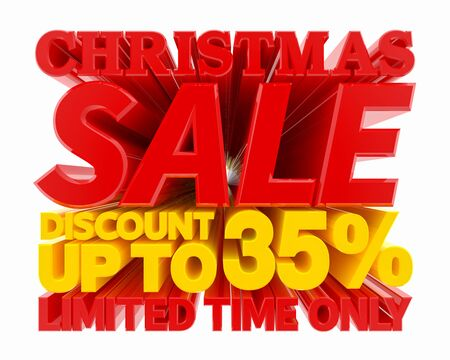 CHRISTMAS SALE DISCOUNT UP TO 35 % LIMITED TIME ONLY 3D rendering