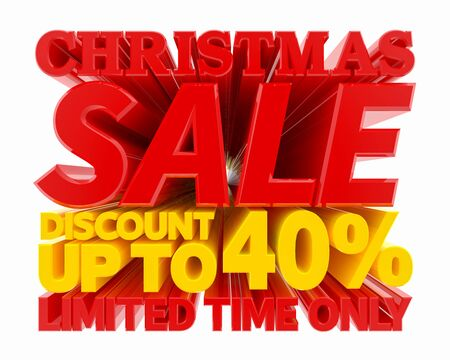CHRISTMAS SALE DISCOUNT UP TO 40 % LIMITED TIME ONLY 3D rendering