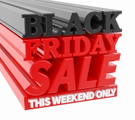 BLACK FRIDAY SALE THIS WEEKEND ONLY word on black background 3D rendering