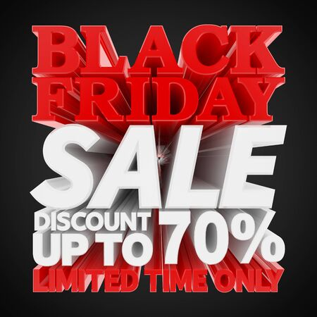 BLACK FRIDAY SALE DISCOUNT UP TO 70 % LIMITED TIME ONLY 3D rendering