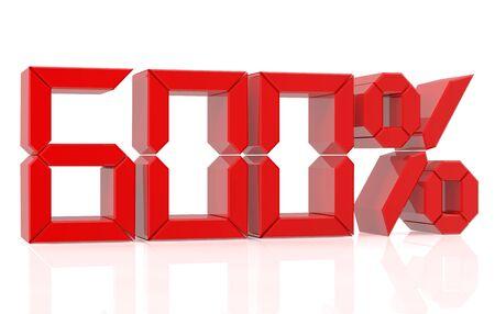 six hundred percent 3D rendering