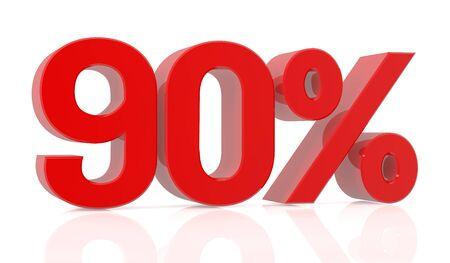 ninety percent 3D rendering 스톡 콘텐츠