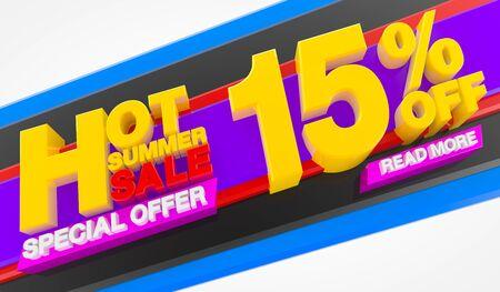 HOT SUMMER SALE 15 % OFF SPECIAL OFFER READ MORE 3d rendering Stok Fotoğraf