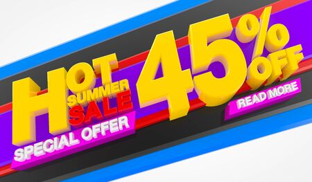 HOT SUMMER SALE 45 % OFF SPECIAL OFFER READ MORE 3d rendering Stok Fotoğraf