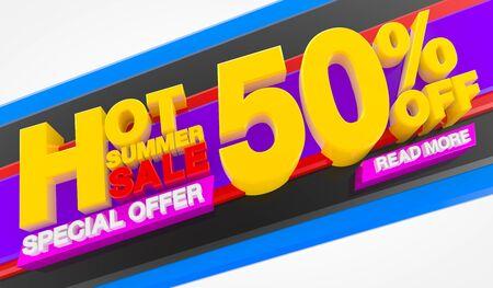 HOT SUMMER SALE 50 % OFF SPECIAL OFFER READ MORE 3d rendering Stok Fotoğraf