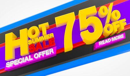 HOT SUMMER SALE 75 % OFF SPECIAL OFFER READ MORE 3d rendering Stok Fotoğraf