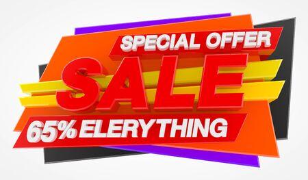 SPECIAL OFFER SALE 65 % ELERYTHING 3d rendering