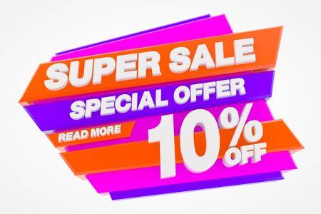 SUPER SALE SPECIAL OFFER 10 % READ MORE 3d rendering Stok Fotoğraf