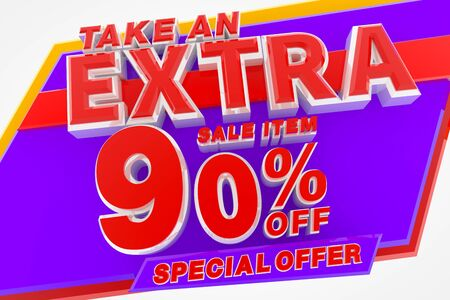 TAKE AN EXTRA SALE ITEM 90 % OFF SPECIAL OFFER 3d rendering