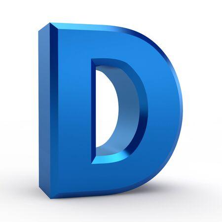 D blue alphabet word on white background illustration 3D rendering