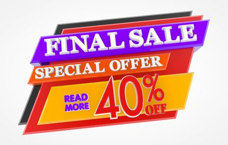 FINAL SALE SPECIAL OFFER 40 % OFF READ MORE 3d rendering