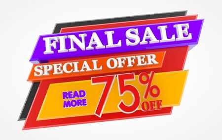 FINAL SALE SPECIAL OFFER 75 % OFF READ MORE 3d rendering