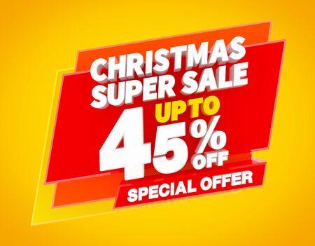 NATALE SUPER SALDI FINO AL 45% OFFERTA SPECIALE Rendering 3D