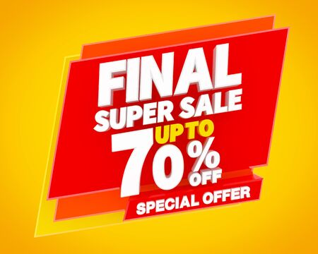 FINAL SUPER SALE UP TO 70 % SPECIAL OFFER 3D rendering