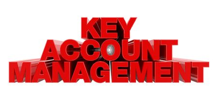 KEY ACCOUNT MANAGEMENT red word on white background illustration 3D rendering