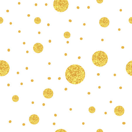 Sparkling dots background. Gold seamless pattern.