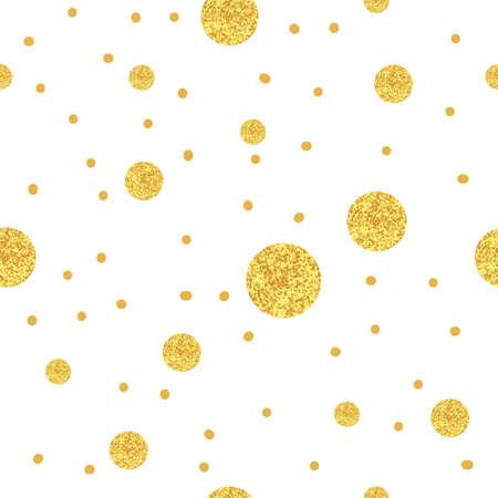 sparkling: Sparkling dots background. Gold seamless pattern.