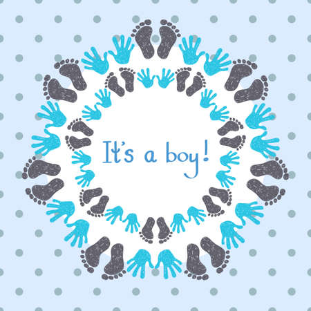 its: Its a boy card template. Congratulation background.