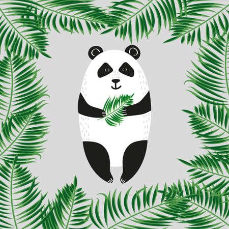 one panda: Cute panda bear. Vector illustration. Illustration
