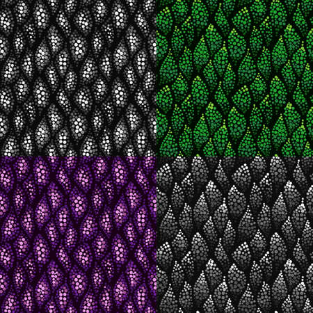 waved: Set of colorful dotted abstract patterns for your design. Collection of waved seamless patterns. Stylish backgrounds, can be used for web design, wallpaper, wrapping, textile.