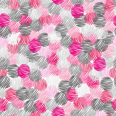 abstract, pattern, seamless, scribble, circle, dots, background, pink, grey, geometric, vector, illustration, hand, drawn, decoration, wallpaper, repeating, graphic, design, style, modern, round, shape, decorative, elements, dark, textile, fabric, texture 일러스트