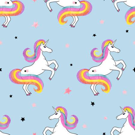 Naadloos patroon van de regenboog eenhoorns. Vector magische illustratie. Vector Illustratie