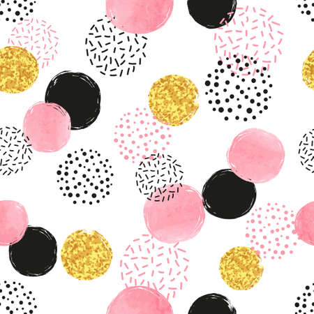 Colorful dotted pattern.