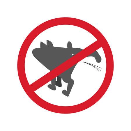 No pissing dog sign. Vector illustration. Illustration