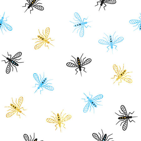 Seamless mosquito pattern. Vector background, textile, fabric design. Illustration