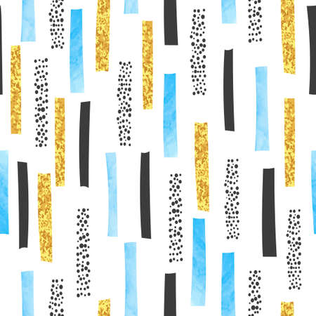 Hand drawn abstract seamless pattern with vertical lines. Vector stripe print.