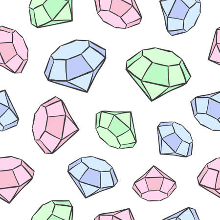 Seamless diamond pattern in pastel colors.
