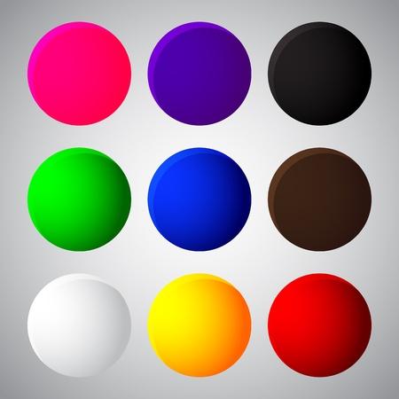 vector colorful balls web button icon Stock Vector - 19863180