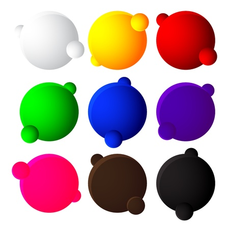 colorful bubble balls web button on white background Stock Vector - 20110098