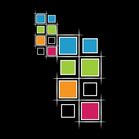 modern squares on black background Stock Vector - 20110056