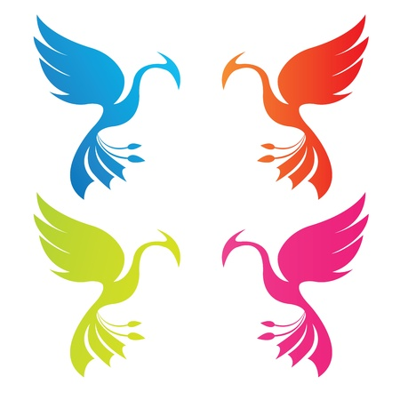 phoenix color Vector