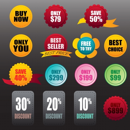 vector labels stickers business