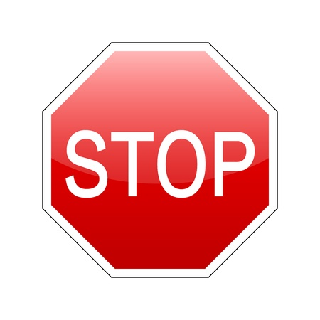 vector stop sign red Vector