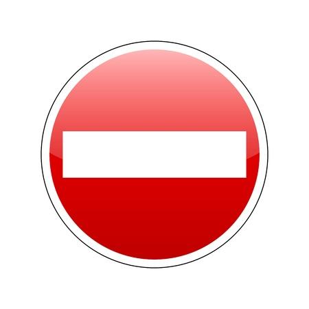 no entrance: vector ninguna se�al de entrada roja