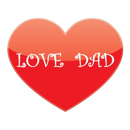 vector heart love dad Vector