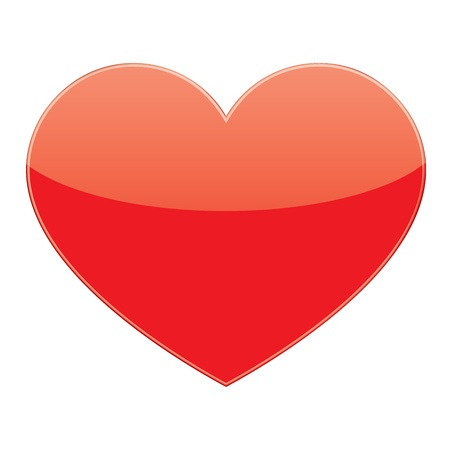 vector love red heart Vector